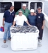 8-8 - Chris Hogan and friends with sea bass and a flounder caught off of Long Beach Island.