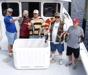 8-10 - Dave Abecunas family and friends showing off sea bass caught aboard New Jersey charter boat Karen Ann II.